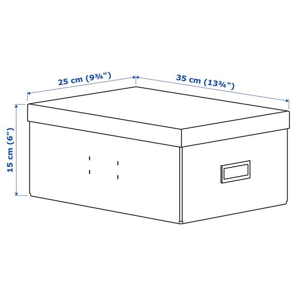 PALLRA pojemnik z pokrywą jasnoniebieski 25 cm 35 cm 15 cm