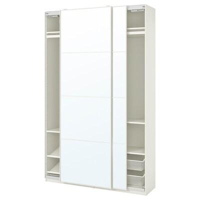PAX / AULI Kombinacja szafy, biały/lustro, 150x44x236 cm