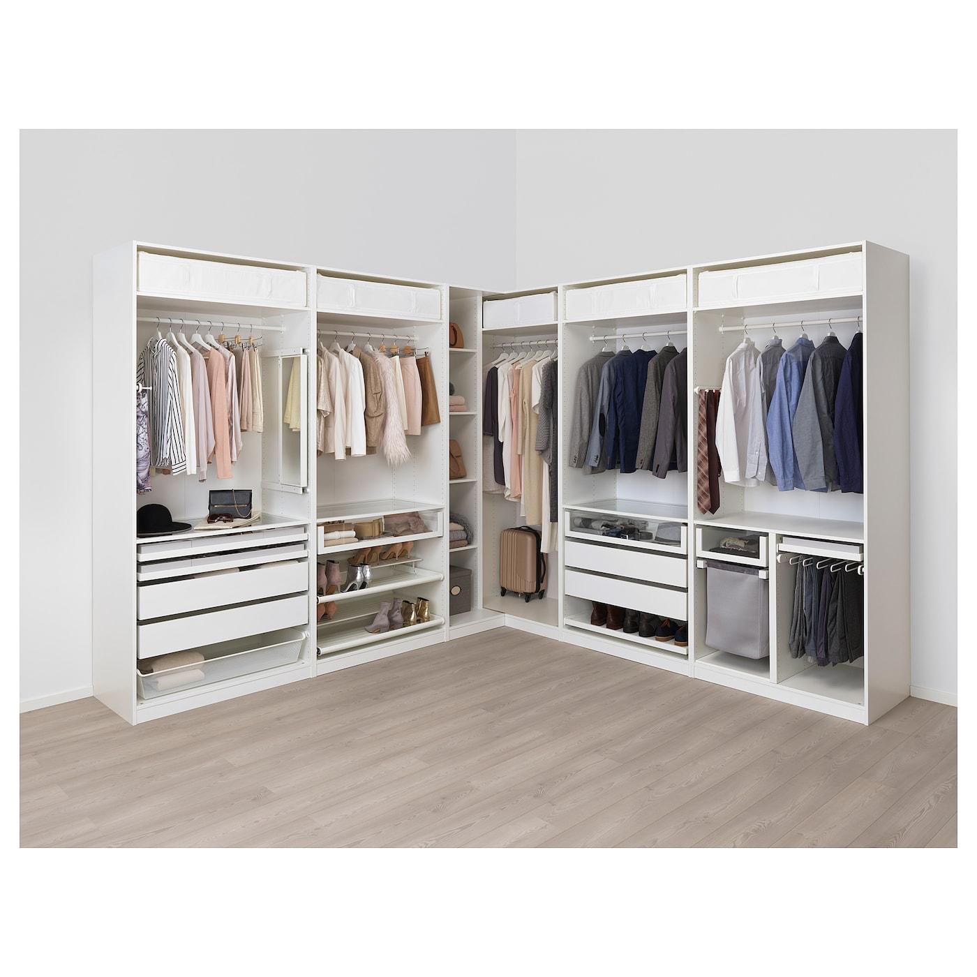 IKEA PAX Szafa narożna, biały, 310/310x236 cm