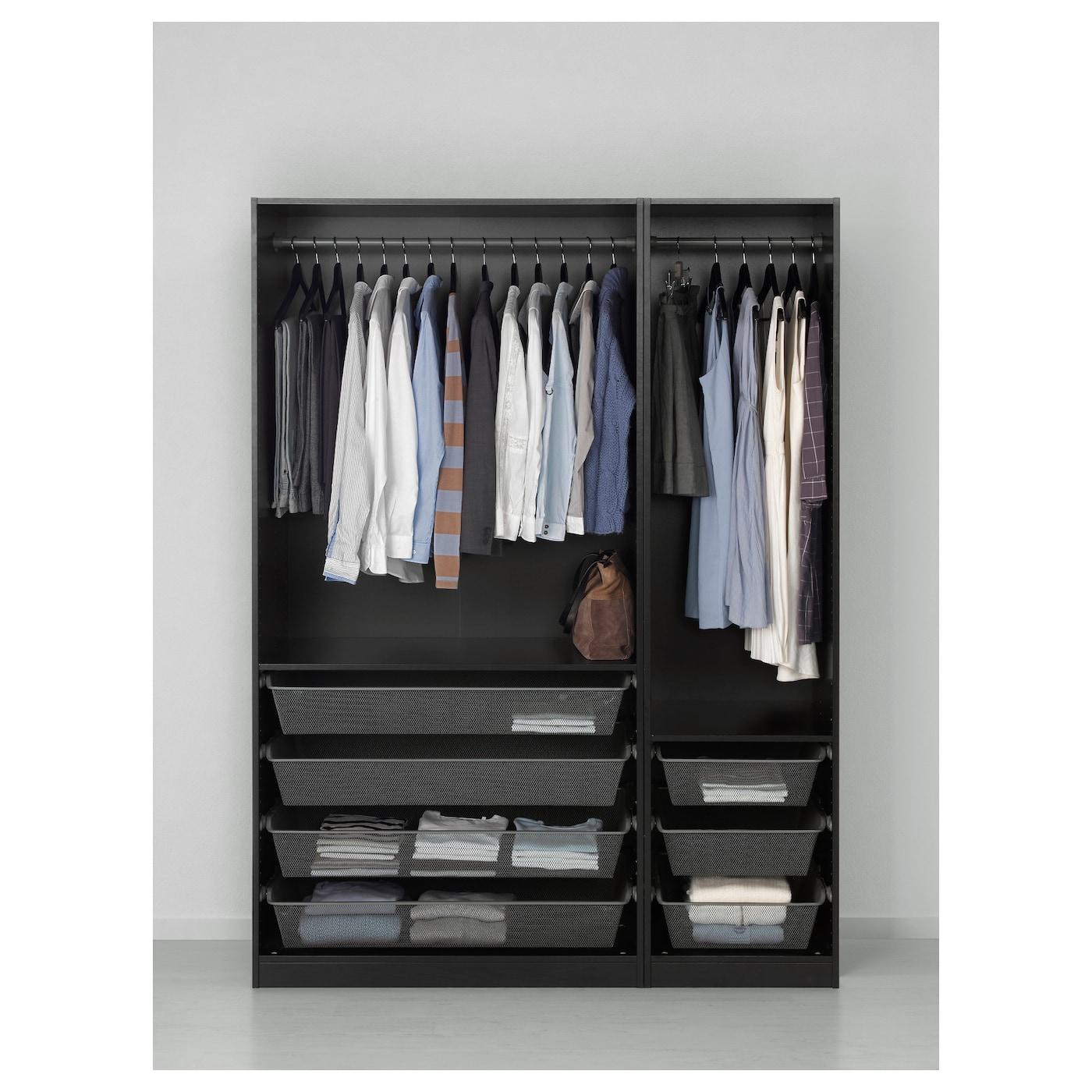 IKEA PAX Szafa, czarnybrąz, 150x58x201 cm