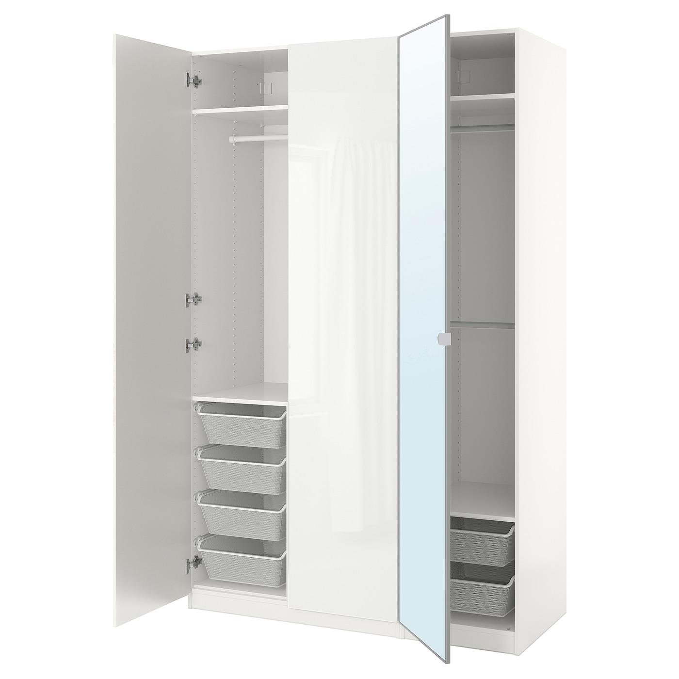 IKEA PAX Szafa, biały, Fardal Vikedal, 150x60x236 cm