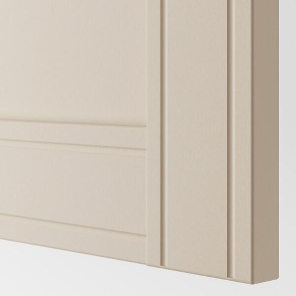 PAX szafa biały/Flisberget jasnobeżowy 200 cm 60 cm 236.4 cm 236 cm