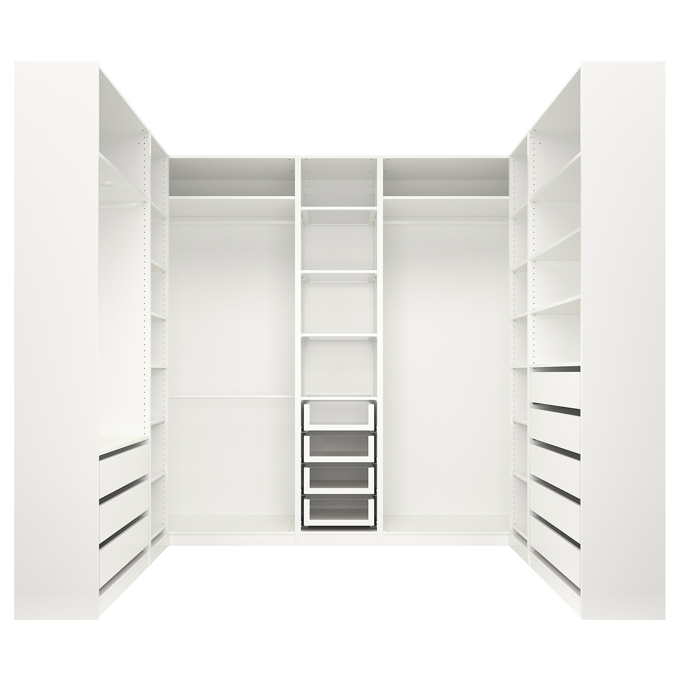 IKEA PAX Szafa, biały, 276x211x236 cm