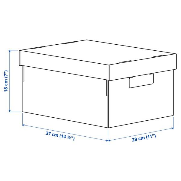 PINGLA pudełko z pokrywką czarny/naturalny 28 cm 37 cm 18 cm 2 szt.