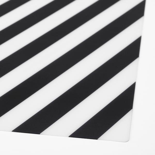 PIPIG podkładka w paski/czarny/biały 37 cm 37 cm