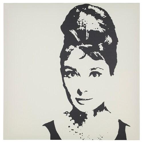 PJÄTTERYD obraz Audrey Hepburn 90 cm 90 cm