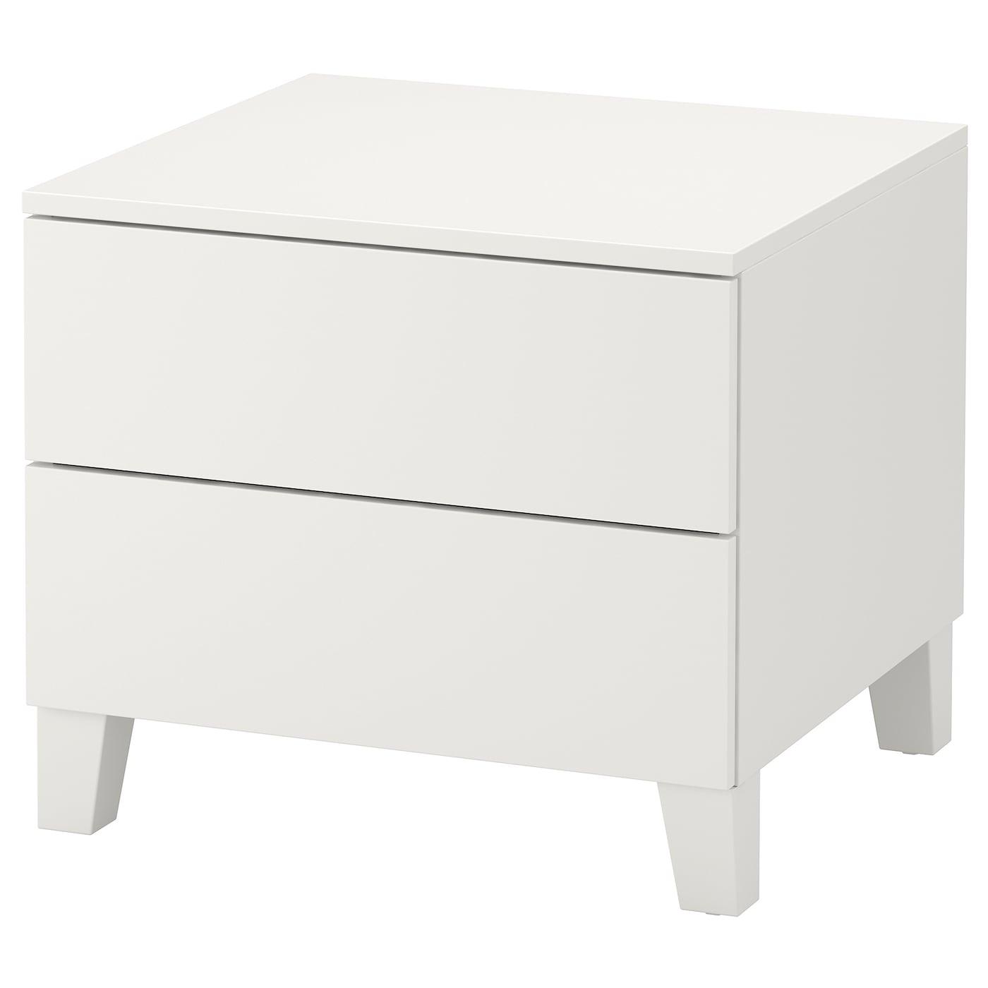 IKEA PLATSA Komoda, 2 szuflady, biały, Fonnes biały, 60x57x53 cm