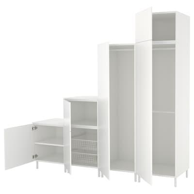 PLATSA Szafa, biały/Fonnes biały, 240x57x231 cm