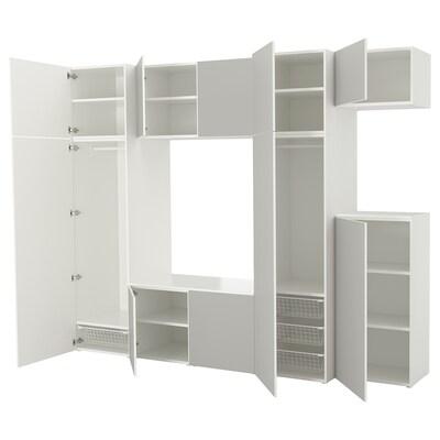 PLATSA Szafa, biały/Skatval jasnoszary, 300x57x243 cm