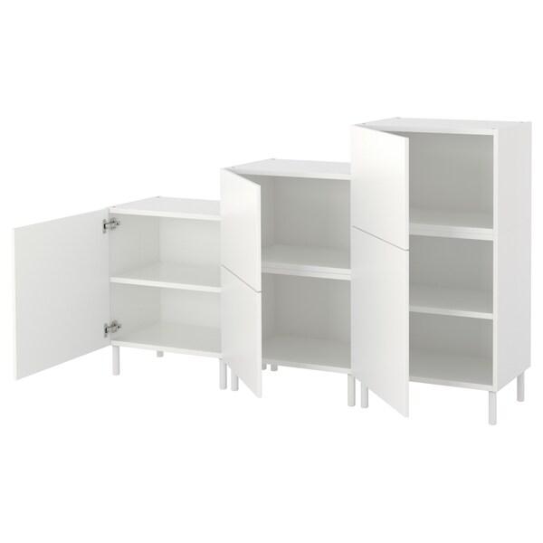 PLATSA Szafka, biały/Fonnes biały, 180x42x113 cm