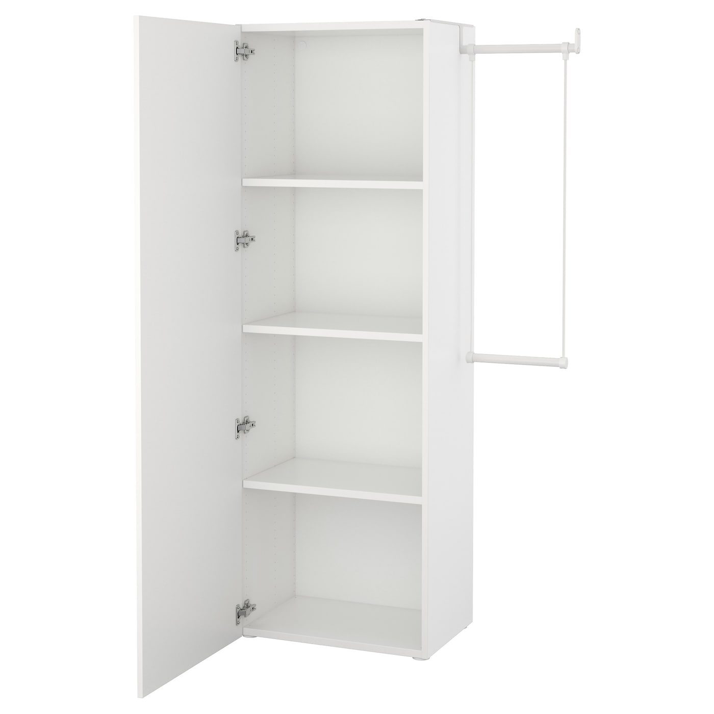 IKEA PLATSA Szafa, biały, Fonnes biały, 95-120x42x181 cm