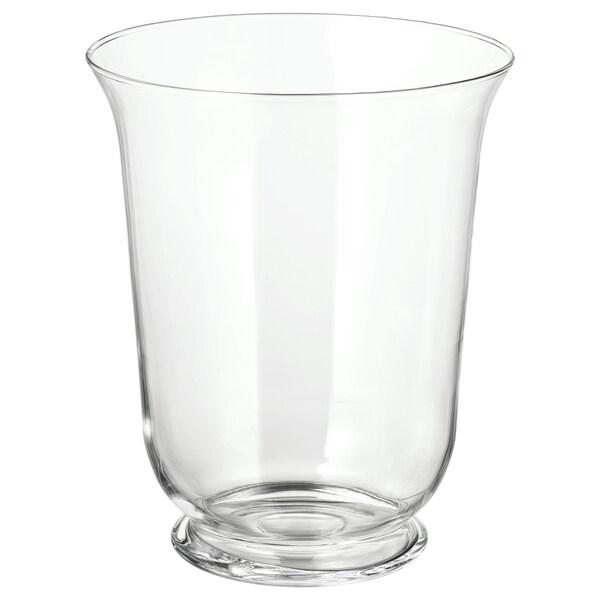 POMP wazon/latarenka szkło bezbarwne 28 cm 23 cm