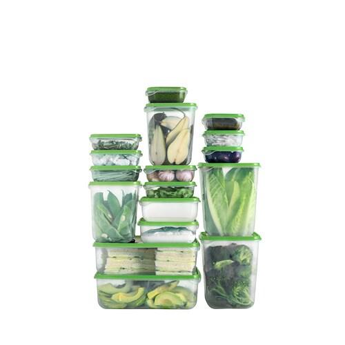 ПРУТА Набор контейнеров, 17 шт, прозрачный, зеленый-6