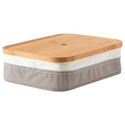 RABBLA Pudełko z przegrodami, 25x35x10 cm