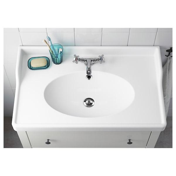 RÄTTVIKEN Pojedyncza umywalka, biały, 82x49x6 cm