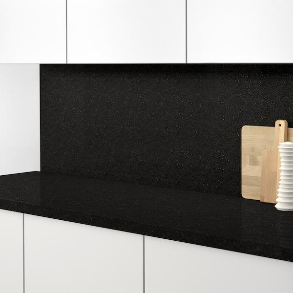 RÅHULT Panel ścienny na wymiar, antracyt imitacja kamienia/kwarc, 1 m²x1.2 cm