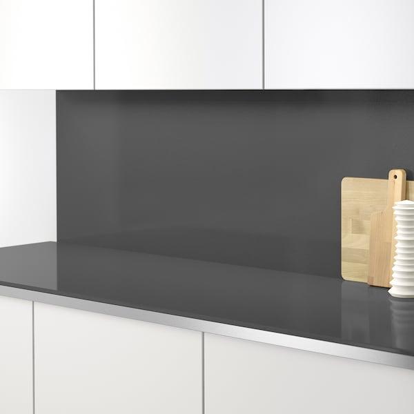 RÅHULT Panel ścienny na wymiar, ciemnoszary imitacja kamienia/kwarc, 1 m²x1.2 cm