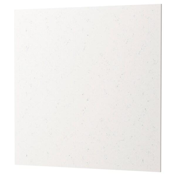 RÅHULT Panel ścienny na wymiar, imitacja białego marmuru kwarc, 1 m²x1.2 cm