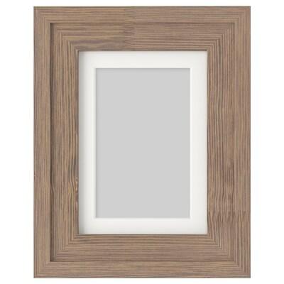 RAMSBORG Ramka, brązowy, 13x18 cm
