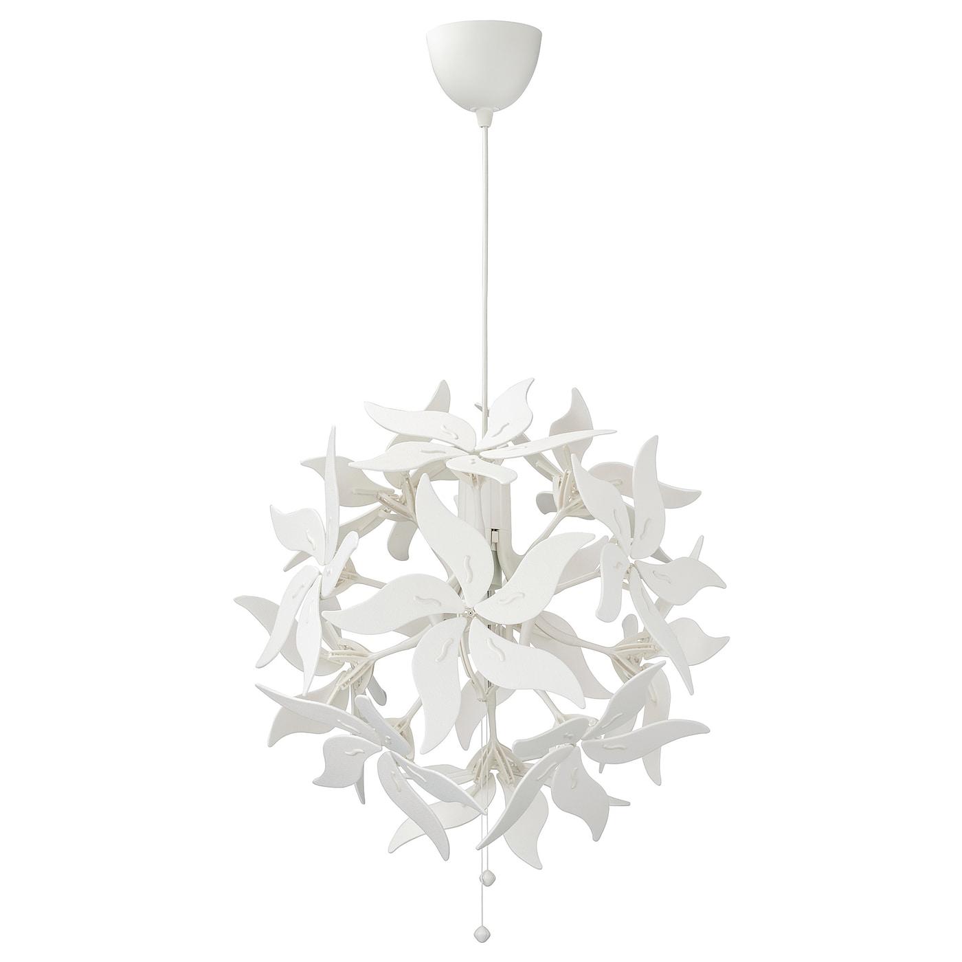 IKEA RAMSELE Lampa wisząca, kwiat, biały, 43 cm