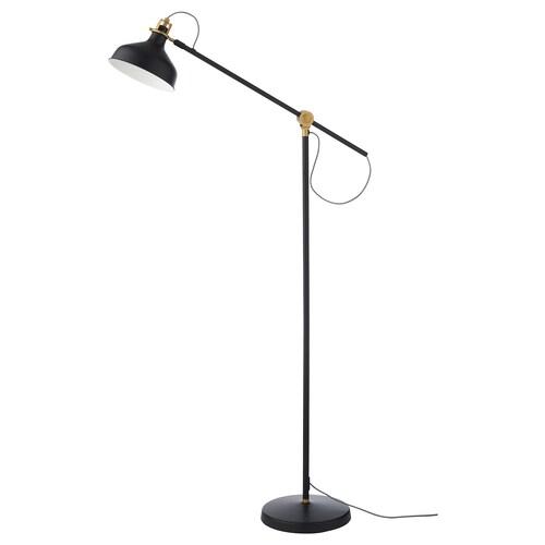 RANARP lampa podłogowa, do czytania czarny 11 Wat 760 mm 280 mm 153 cm 185 cm