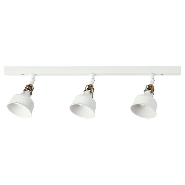 RANARP Lampa sufitowa, 3 reflektory, kremowy
