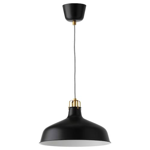 RANARP lampa wisząca czarny 22 Wat 38 cm 1.6 m