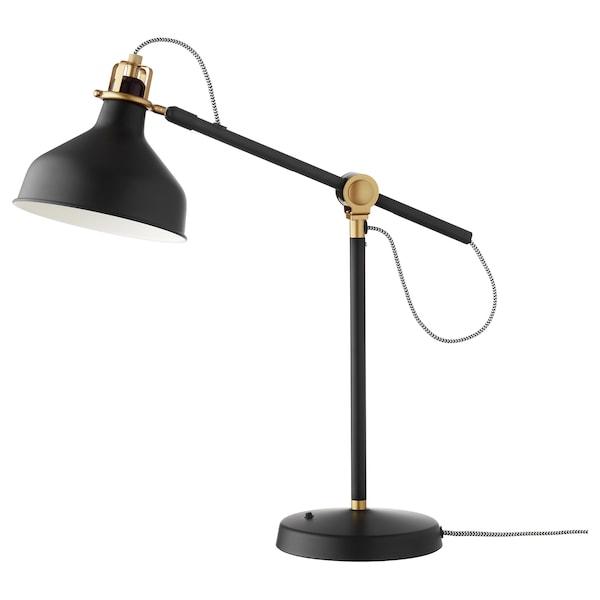 RANARP lampa biurkowa czarny 11 Wat 42 cm 19 cm 159 cm