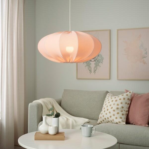 REGNSKUR Klosz lampy wiszącej, owal różowy, 52 cm