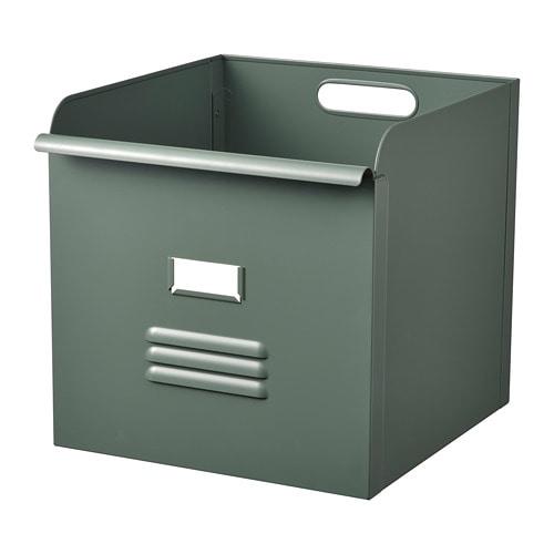 RESJA metāla kaste, zaļā krāsā, 32x35x32 cm