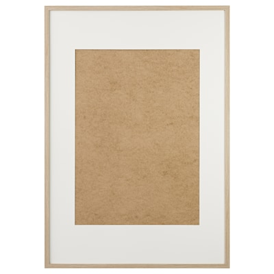 RIBBA Ramka, dąb bejcowany na biało, 70x100 cm