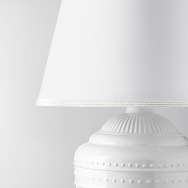RICKARUM lampa stołowa biały 13 Wat 34 cm 47 cm 34 cm 11 cm 2.2 m