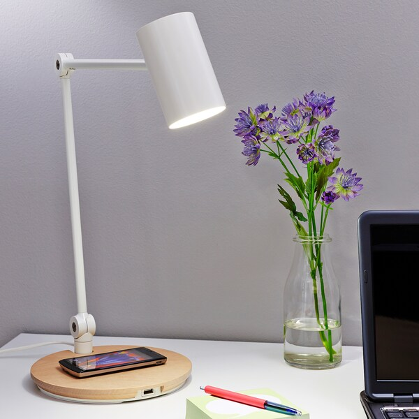 RIGGAD lampa LED z ładowarką indukcyjną biały 450 lm 43 cm 6 cm 1.9 m 7.0 Wat