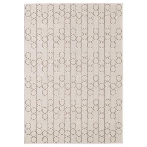 RINDSHOLM dywan tkany na płasko beżowy 230 cm 160 cm 5 mm 3.68 m² 1680 g/m²