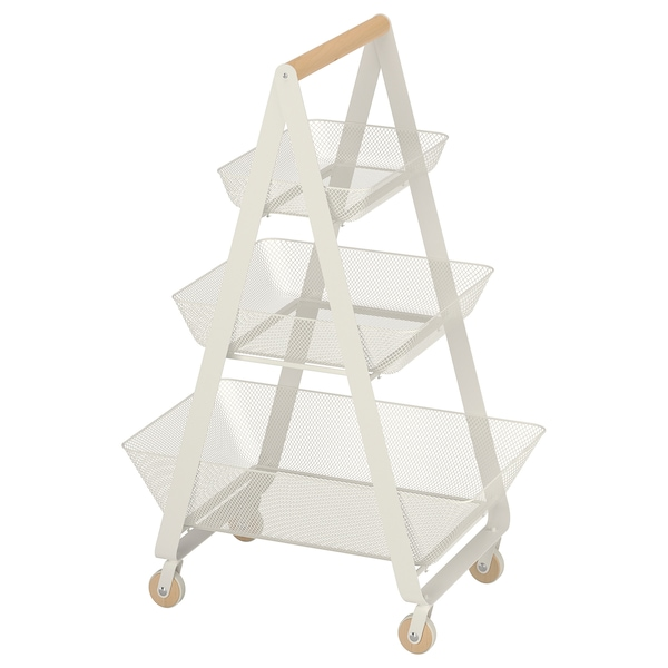 RISATORP Wózek, biały, 57x39x86 cm