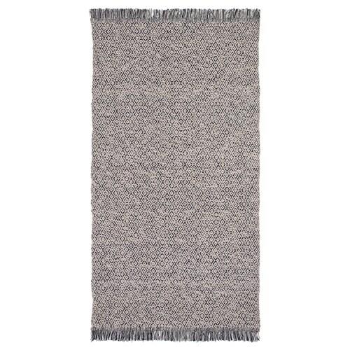 RÖRKÄR dywan tkany na płasko czarny/naturalny 150 cm 80 cm 1.20 m² 1200 g/m²