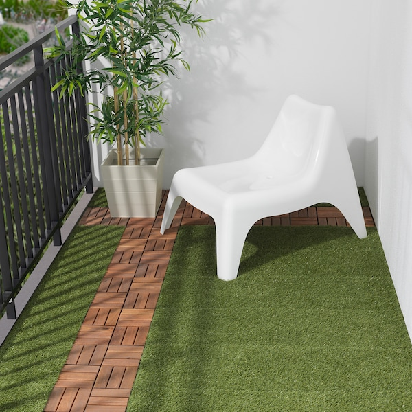 RUNNEN Płyta podłogowa, ogrodowa, brązowa bejca, 0.81 m²