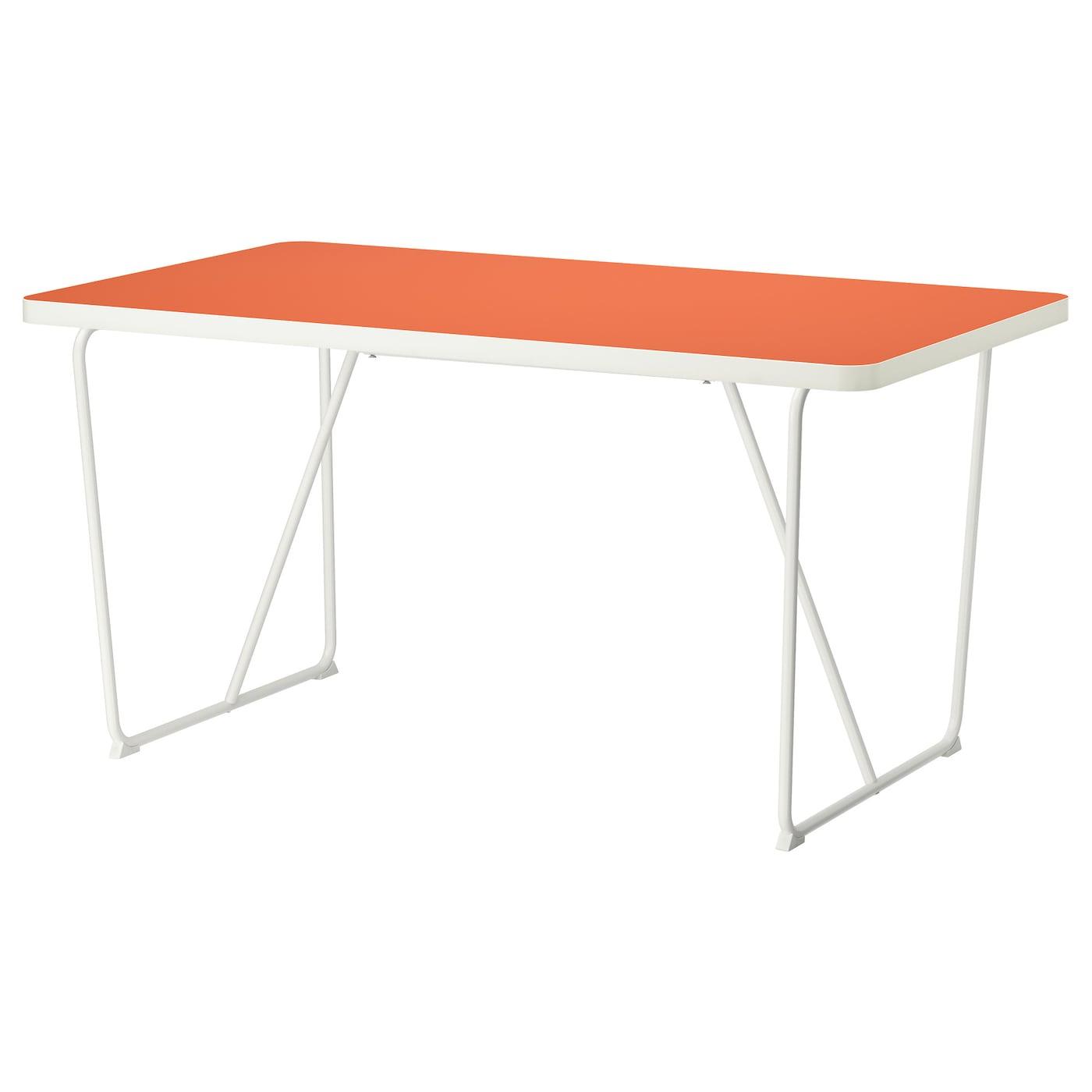 IKEA RYDEBÄCK Stół, pomarańczowy biały, pomarańczowy Backaryd biały, 150x78 cm