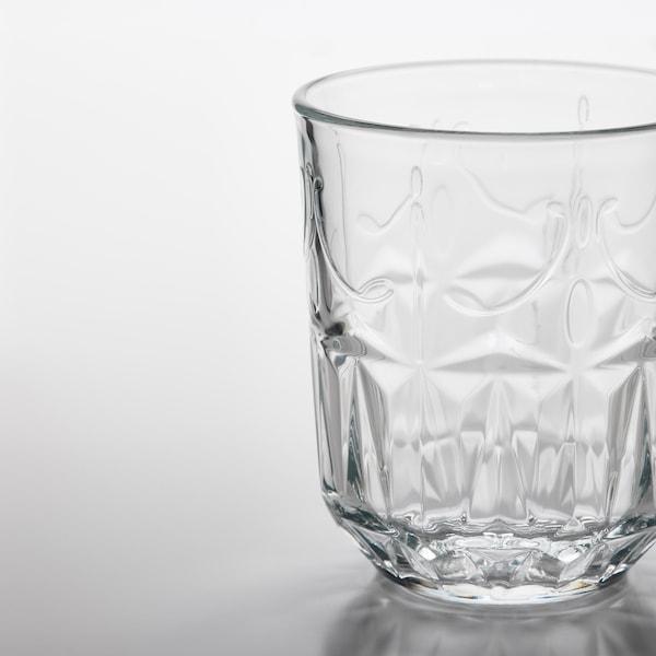 SÄLLSKAPLIG Szklanka, szkło bezbarwne/wzór, 27 cl