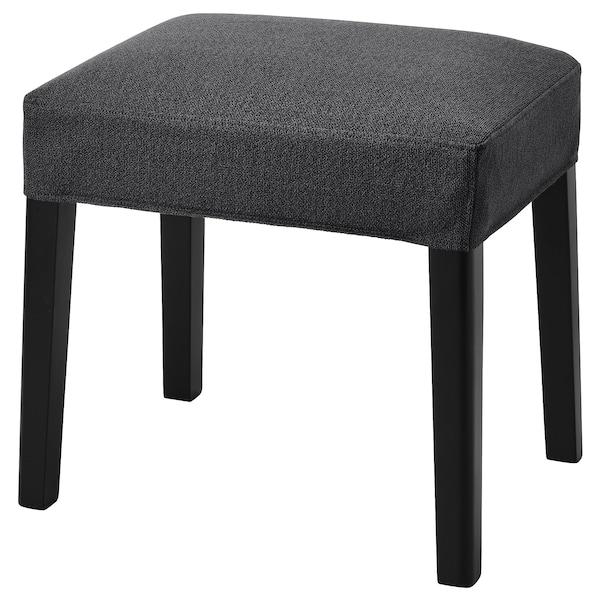 SAKARIAS stołek czarny/Sporda ciemnoszary 100 kg 39 cm 51 cm 49 cm 35 cm 47 cm 49 cm