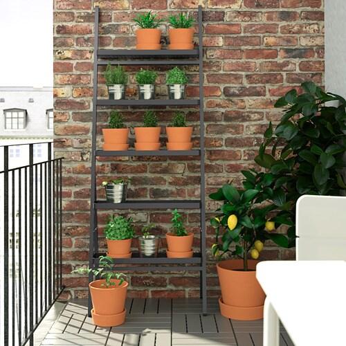 СЭЛЛАДСКОЛЬ Пьедестал для цветов, для сада, серый, 173 см-3