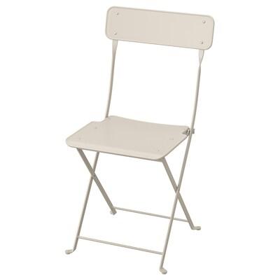 SALTHOLMEN Krzesło, ogrodowe, składany beżowy