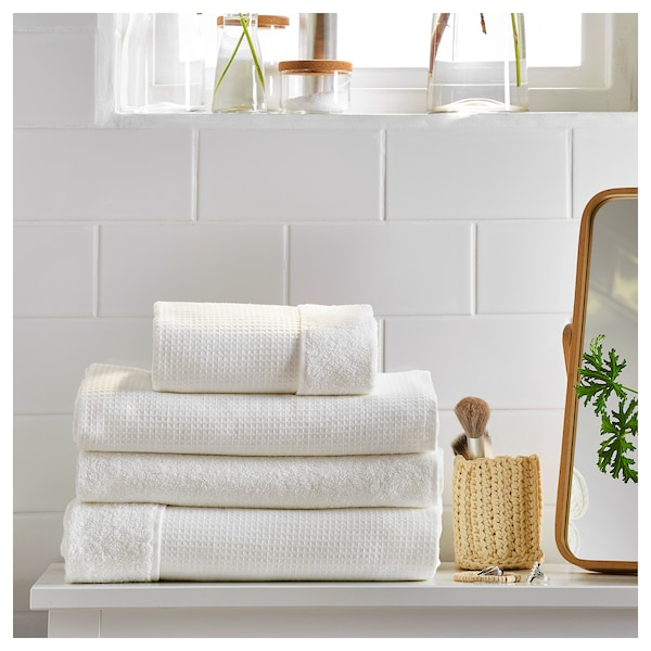 SALVIKEN Ręcznik, biały, 30x30 cm