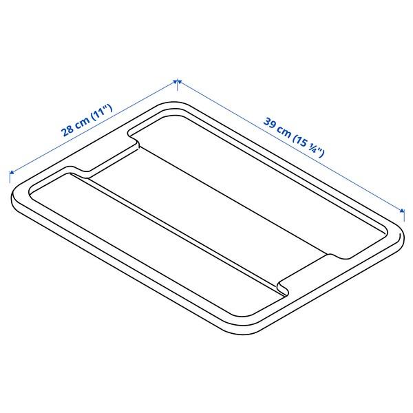 SAMLA pokrywka pudełka 11/22-litrowego przezroczysty 39 cm 28 cm