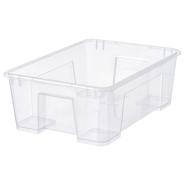SAMLA Pudełko, przezroczysty, 39x28x14 cm/11 l