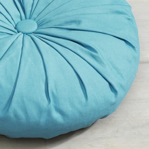 SAMMANKOPPLA Poduszka, okrągły niebieski, 40 cm