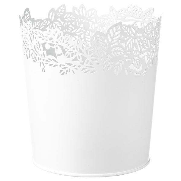SAMVERKA Osłonka doniczki biały 14 cm 13 cm 12 cm 12 cm