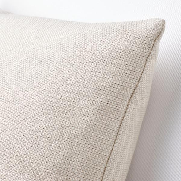 SANDTRAV Poduszka, beżowy/biały, 45x45 cm