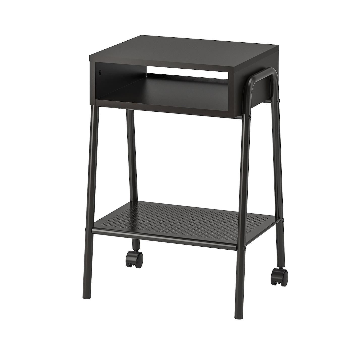 IKEA SETSKOG czarny stolik nocny, 45x35 cm