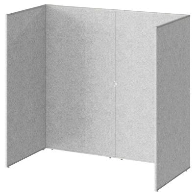 SIDORNA Ścianka działowa, szary, 164x80x150 cm
